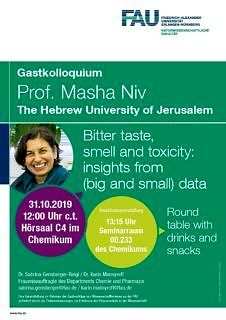 "Zum Artikel ""31.10.19 Guest lecture: Bitter taste, smell and toxicity: insights from (big and small) data"""