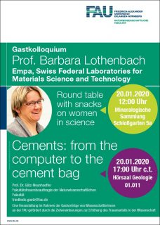 "Zum Artikel ""20.01.2020 Guest lecture: Cements: from the computer to the cement bag"""